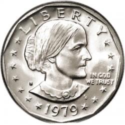 ESTADOS UNIDOS 1 DOLAR 1979 S SUSAN B. ANTHONY AGUILA SOBRE LA LUNA KM.207 MONEDA DE NICKEL SIN CIRCULAR USA 1 Dollar