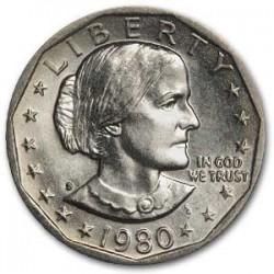 ESTADOS UNIDOS 1 DOLAR 1980 S SUSAN B. ANTHONY AGUILA SOBRE LA LUNA KM.207 MONEDA DE NICKEL SIN CIRCULAR USA 1 Dollar