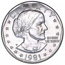 ESTADOS UNIDOS 1 DOLAR 1981 D SUSAN B. ANTHONY AGUILA SOBRE LA LUNA KM.207 MONEDA DE NICKEL SC USA 1 Dollar
