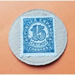 . .20 MONEDAS/CARTON 1937 REPUBLICA ESPAÑOLA 10+25+50 CENTIMOS