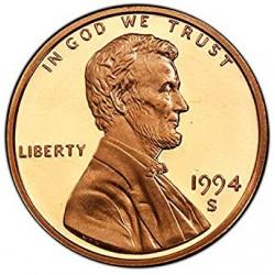 ESTADOS UNIDOS 1 CENTAVO 1992 S LINCOLN COBRE PROOF USA