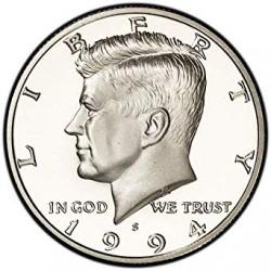 ESTADOS UNIDOS 1/2 DOLAR 1994 S KENNEDY KM A202B MONEDA DE NICKEL PROOF Medio USA HALF DOLLAR FROM MINT SET