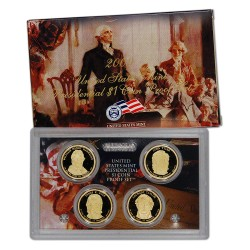 2009 UNITED STATES MINT PRESIDENTIAL $1 COIN PROOF SET 4 monedas x ESTADOS UNIDOS 1 DOLAR 2009 Letra S PRESIDENTES