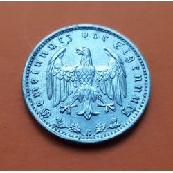 ALEMANIA 1 MARCO 1933 G AGUILA NAZI III REICH KM.78 MONEDA DE NICKEL MBC @RARA@ Germany 1 Reichsmark Ref/2