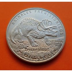 SAHARA 100 PESETAS 1994 TRICERATOPS KM.17 MONEDA DE NICKEL SC @ESCASA@ Saharawi República Arabe Saharaui Democrática