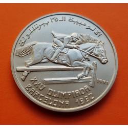 SAHARA 100 PESETAS 1991 HIPICA BARCELONA 92 KM.7 MONEDA DE NICKEL SC @ESCASA@ Saharawi República Arabe Saharaui Democrática