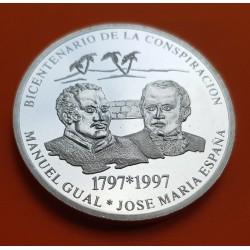 BOLIVIA 10 BOLIVIANOS 1997 INDIGENA PLATA SILVER KM*209
