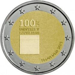 ESLOVENIA 2 EUROS 2019 UNIVERSIDAD DE LIUBLIANA SC MONEDA CONMEMORATIVA Slovenia Slovenija euro coin