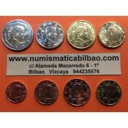 BELGICA MONEDAS EURO 2019 SC 1+2+5+10+20+50 Centimos 1 EURO + 2 EUROS 2019 REY FELIPE NUEVO DISEÑO TIPO 3
