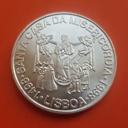 PORTUGAL 1000 ESCUDOS 1998 CASA DE LA MISERICORDIA VIRGEN y ANGELES KM.708 MONEDA DE PLATA SC Silver
