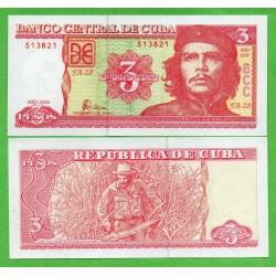 3 PESOS 2004 ERNESTO CHE GUEVARA Pick 127 BILLETE SC Caribbean Caribe UNC BANKNOTE