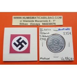FRANCIA 2 FRANCOS 1944 MORLON KM*886.A.1 III REICH NAZI WWII