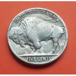 ESTADOS UNIDOS 5 CENTAVOS 1928 BUFFALO e INDIO NATIVO KM.134 MONEDA DE NICKEL MBC- USA 5 Cent coin