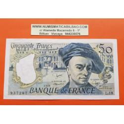 FRANCIA 50 FRANCOS 1990 QUENTIN DE LA TOUR Serie 937287 Pick 152B BILLETE EBC France 50 Francs