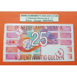 HOLANDA 25 GULDEN 1989 JOHAN PIROTECNIA y FORMAS GEOMETRICAS Pick 100 BILLETE MBC+ The Netherlands Pays Bas PVP NUEVO 53€