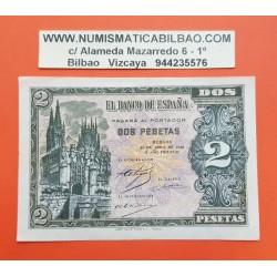 ESPAÑA 2 PESETAS 1938 CATEDRAL DE BURGOS 30 de ABRIL Serie I 1568647 Pick 109A BILLETE EBC Spain banknote