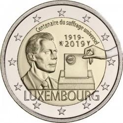 LUXEMBURGO 2 EUROS 2019 CENTENARIO DEL SUFRAGIO UNIVERSAL 2ª MONEDA CONMEMORATIVA SC