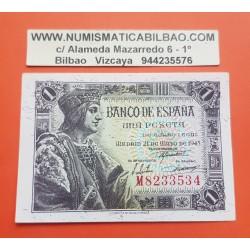 ESPAÑA 1 PESETA 1943 REY FERNANDO EL CATOLICO Serie M 8233534 Pick 126 BILLETE SC SIN CIRCULAR Spain UNC BANKNOTE