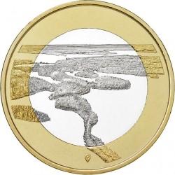FINLANDIA 5 EUROS 2018 Paisajes Nacionales Nº 5 RESERVA DE PUNKAHARJU SC moneda bimetálica
