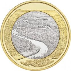 FINLANDIA 5 EUROS 2018 Paisajes Nacionales Nº 7 RIO OULANKA SC moneda bimetálica