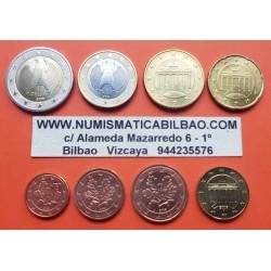 ALEMANIA MONEDAS EURO 2016 Letra F SC 1+2+5+10+20+50 Centimos + 1 EURO + 2 EUROS 2016 Ceca F Germany coins