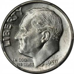 USA 10 CENTS DIME 1959 D ROOSVELT SILVER UNC