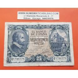 ESPAÑA 25 PESETAS 1940 JUAN DE HERRERA Serie C 1786375 Pick 116 BILLETE MBC- @RARO@ Spain banknote