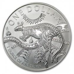 AUSTRALIA 1 DOLAR 1999 CANGURO PLATA Silver Kangaroo Känguru $1