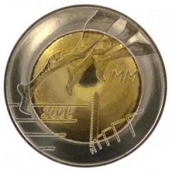 FINLANDIA 5 EUROS 2005 CAMPEONATO DE ATLETISMO EN HELSINKI BIMETALICA SC @MONEDA RARA@ FINNLAND