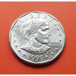 ESTADOS UNIDOS 1 DOLAR 1999 P SUSAN B. ANTHONY AGUILA SOBRE LA LUNA KM.207 MONEDA DE NICKEL EBC/SC USA 1 Dollar