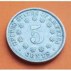ESTADOS UNIDOS 5 CENTAVOS 1882 ESCUDO US SHIELD KM.97 MONEDA DE NICKEL MBC+ @RARA@ USA United States 5 Cents