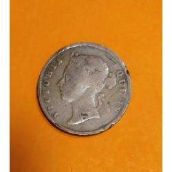 SARAWAK 1 CENTIMO 1895 H. C. BROOKE RAJAH KM.7 MONEDA DE COBRE MBC- MBC 1 Cent STRAITS SETTLEMENTS Estrechos Malayos
