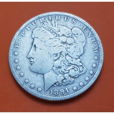 Dolar 1891 O Morgan Km 110 Moneda