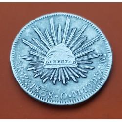 MEXICO 1 PESO 1966 MORELOS PLATA BAJA SILVER KM*459 EBC-