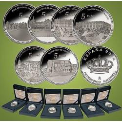 .ESPAÑA FNMT 5€ EUROS 2013 1ª SERIE PATRIMONIO PLATA 6 uds.