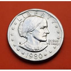 ESTADOS UNIDOS 1 DOLAR 1980 S SUSAN B. ANTHONY AGUILA SOBRE LA LUNA KM.207 MONEDA DE NICKEL SC- USA 1 Dollar Ref/1