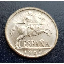 ..ESPAÑA 5 CENTIMOS 1953 FRANCO JINETE EBC- ALUMINIO @RARA@ 2