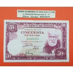 ESPAÑA 50 PESETAS 1951 SANTIAGO RUSIÑOL Serie B 2488672 Pick 141 BILLETE MBC @DOBLEZ y DEFECTOS@ Spain banknote