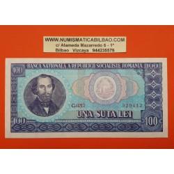 RUMANIA 100 LEI 1966 REPUBLICA SOCIALISTA DE ROMANIA NICOLAE BALCESCU Pick 97 BILLETE SC UNC BANKNOTE