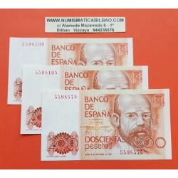 @C/UNO@ ESPAÑA 200 PESETAS 1980 LEOPOLDO ALAS CLARIN Sin Serie Pick 156 BILLETE SC- @DEFECTOS@ Spain banknote