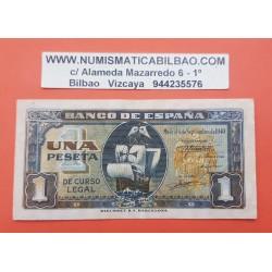 ESPAÑA 1 PESETA 1940 CARABELA DE CRISTOBAL COLON Serie B 9212794 Pick 122A BILLETE MBC Spain banknote