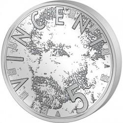 HOLANDA 5 EUROS 2003 FAMOSISIMO PINTOR VINCENT VAN GOGH MONEDA SC PLATA The Netherlands