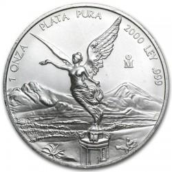 MEXICO 1 ONZA 2000 ANGEL LIBERTAD MONEDA DE PLATA PURA 999 SC Mejico Silver coin OZ OUNCE