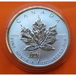 CANADA 5 DOLARES 1998 TIGRE HOJA DE ARCE PLATA SILVER DOLLAR