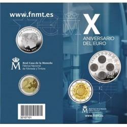 ESPAÑA CARTERA FNMT 30 EUROS 2012 PLATA + 2 EUROS X ANIVERSARIO