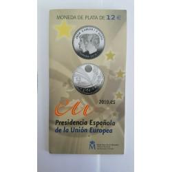 ESPAÑA CARTERA FNMT 12 EUROS 2005 + 2 EUROS PLATA DON QUIJOTE