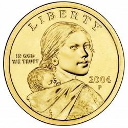 ESTADOS UNIDOS 1 DOLAR 2004 P INDIA SACAGAWEA MONEDA DE LATON SC USA $1 Dollar coin
