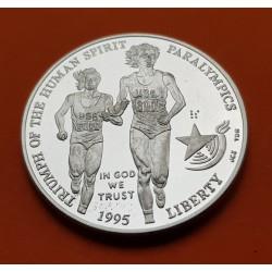 .ESTADOS UNIDOS 1 DOLAR 1995 D ATLANTA CICLISMO SILVER PLATA $1