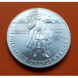 ESTADOS UNIDOS 1 DOLAR 1992 P COLON PLATA PROOF Silver USA