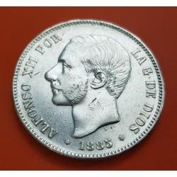 .AMADEO I 5 PESETAS 1871 * 18/71 SDM PLATA ESPAÑA 4 DURO SILVER